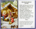 Christmas Novena Laminated Holy Card