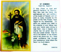 St Dominic Laminated Holy Card
