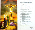 Stations of the Cross Laminated Holy Card