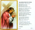 Splinters From The Cross Laminated Holy Card