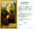 St Benedict Laminated Holy Card