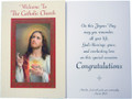 Welcome to the Catholic Church Sacred Heart RCIA Greeting Card