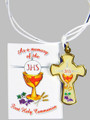 "Communion Cross 2"" Gold with Leaflet"