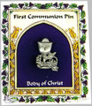 First Communion Pewter Pin