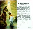 St John the Baptist Laminated Holy Card