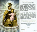 Our Lady of Mt Carmel Prayer to the Blessed Virgin Laminated Holy Card