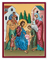 Christ & Children 8 x 10 Icon