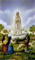 Our Lady of Fatima Laminated Holy Card front image