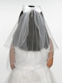 "Communion Veil - Jessica - Bow with Cross Charm & 20"" Veil on Comb"