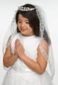 First Holy Communion Veil Style — Kate