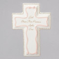Porcelain Baby Wall Cross Pink