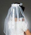 "Communion Veil - Wendy - Halo Style 22"" Veil"