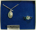 Miraculous Medal Ring and Pendant Set