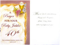 A Prayer For Your Ruby Jubilee Greeting Card