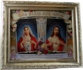 House Blessing Sacred Heart and Immaculate Heart Silver Frame