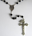 Vienna Collection Austrian Crystal 7mm Jet Bead Rosary