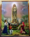 "Our Lady of Fatima 8"" x 10"" Gold Mylar Frame"