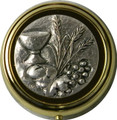 Pyx with Communion Symbols Emblem Small