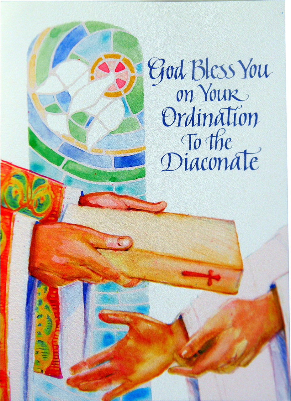 God Bless You On Your Ordination To The Diaconate Greeting Card