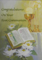 Congratulations On Your First Communion Greeting Card
