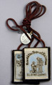 Our Lady of Mount Carmel Brown Wool Scapular with Brown Cord and medals