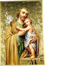 St Joseph Mosaic Wall Plaque