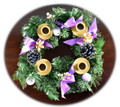 Purple Ribbon Advent Wreath Candles sold separately