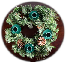 Holiday Traditions Advent Wreath Candles sold separately