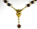 Amethyst 7mm AB Crystal bead rosary with gp chain