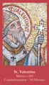 St Valentine Prayer Card  front of card