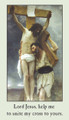 Stations of the Cross Holy Card Front of card