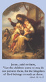 Children's Prayer Card front of card