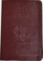 Douay-Rheims Bible Burgundy Leather