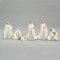 6 piece resin Nativity set