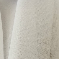 White Chevron Knit Fusible Knit