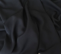 Black Silk Double Georgette