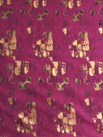 Brocade-Spice Wine/Gold Foil