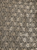 Smokey Taupe Sequin Stretch Lace