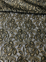 Black/Gold Stretch Lace