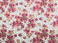 Dots and Florals Stretch Cotton Sateen