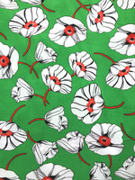 Shamrock Green/White, Classic Red Viscose Poplin
