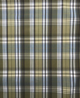 Olive/Brown/Steel Grey/White Cotton Plaid