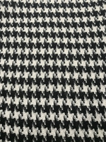 Black/Ivory Houndstooth Double Faced Wool Blend Coating