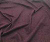 Heather Burgundy Rayon Jersey Knit