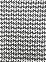 Black/White Houndstooth Double Knit