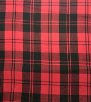 Black/Red Plaid Wool Plaid