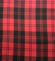 Black/Red Plaid Wool Plaid