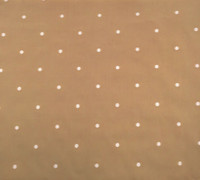 Camel/Ivory Dot Cotton Shirting