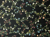 Petite Floral Vine Stretch Cotton Sateen