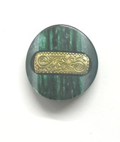 Marbled Green with Gold Inset